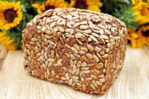 Pães, sementes e grãos germinados